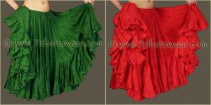 Tribe Nawaar's Color Theory For Costuming, Complementary Harmonies: Green & Red
