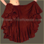 Tribe Nawaar's Color Theory For Costuming, Dark Red Skirt