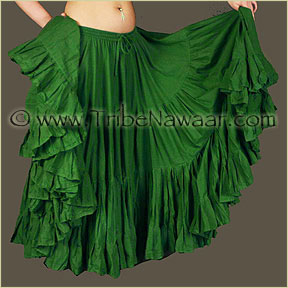 Tribe Nawaar's Color Theory For Costuming, Green Skirt