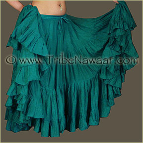 Tribe Nawaar's Color Theory For Costuming, Green-Blue Skirt
