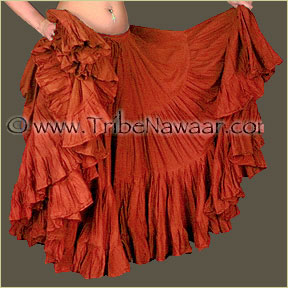 Tribe Nawaar's Color Theory For Costuming, Red-Orange Skirt