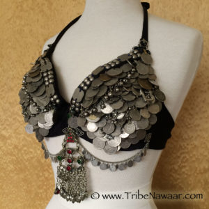Learn to make your own DIY tribal bellydance coin bra in Tribe Nawaar's Bra Decorating Workshop, Boulder, Colorado