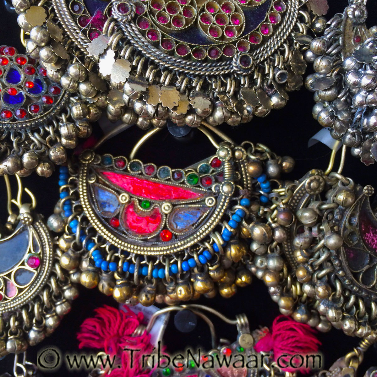 Tribe Nawaar's traditional Kuchi earrings