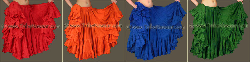 Tribe Nawaar's Color Theory For Costuming, Tetradic Harmonies: Red, Orange, Blue & Green