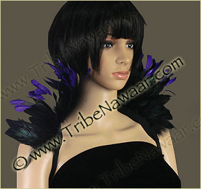 Tribe Nawaar's purple queen theatrical feather collar