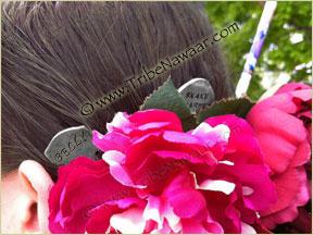 Tribe Nawaar's belly hair fork, modeled