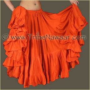 Tribe Nawaar's Color Theory For Costuming, Orange Skirt
