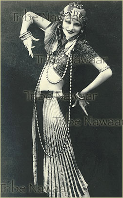 Tribe Nawaar's silent film era dancer print