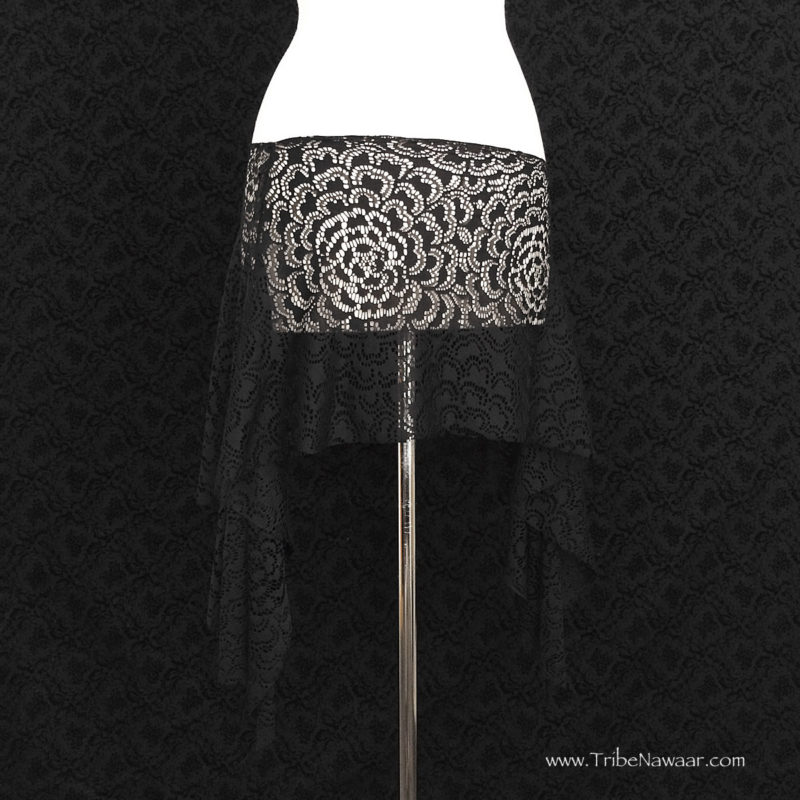 Black Lace Rosehips Skirt, Limited Edition Fabric