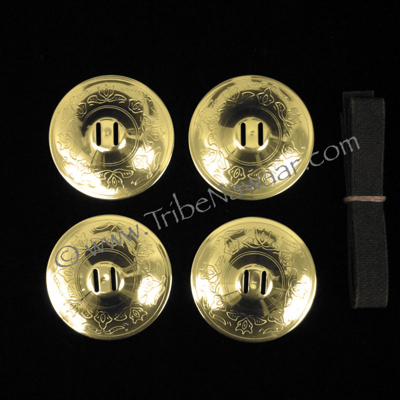Saroyan brass Arabesque zils (aka: sagat, finger cymbals or zils) available thru Tribe Nawaar