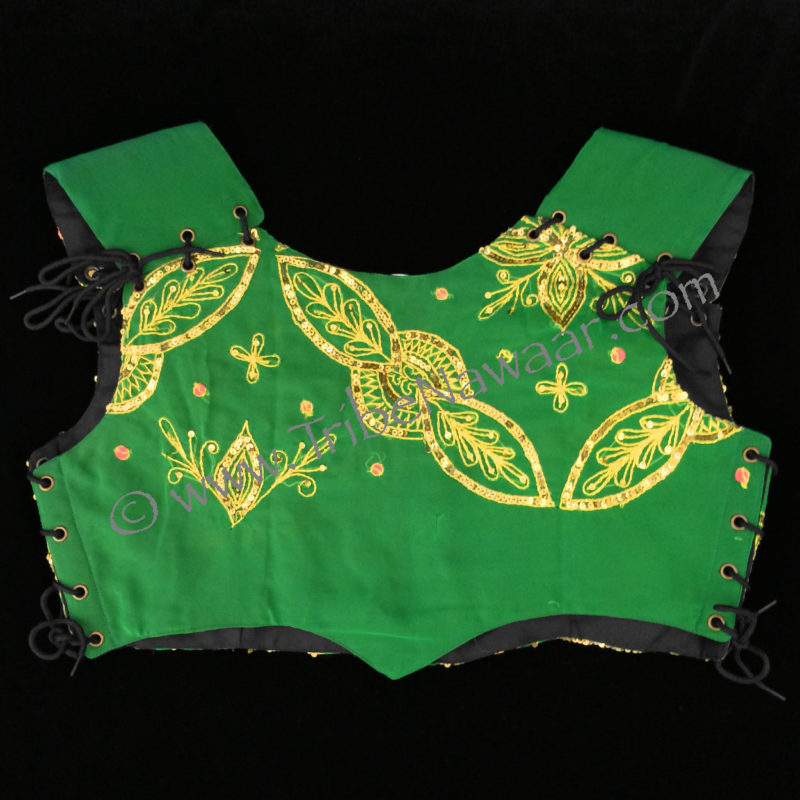 Tribe Nawaar's serpent green bodice, less ornate back