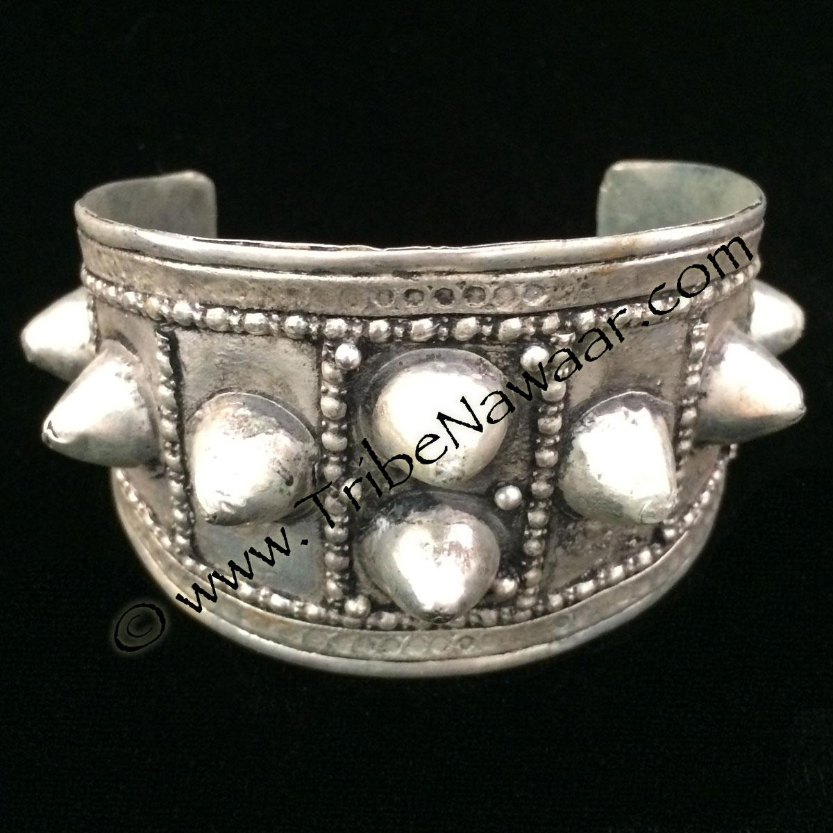 Silver Spiked Tribal Bracelet