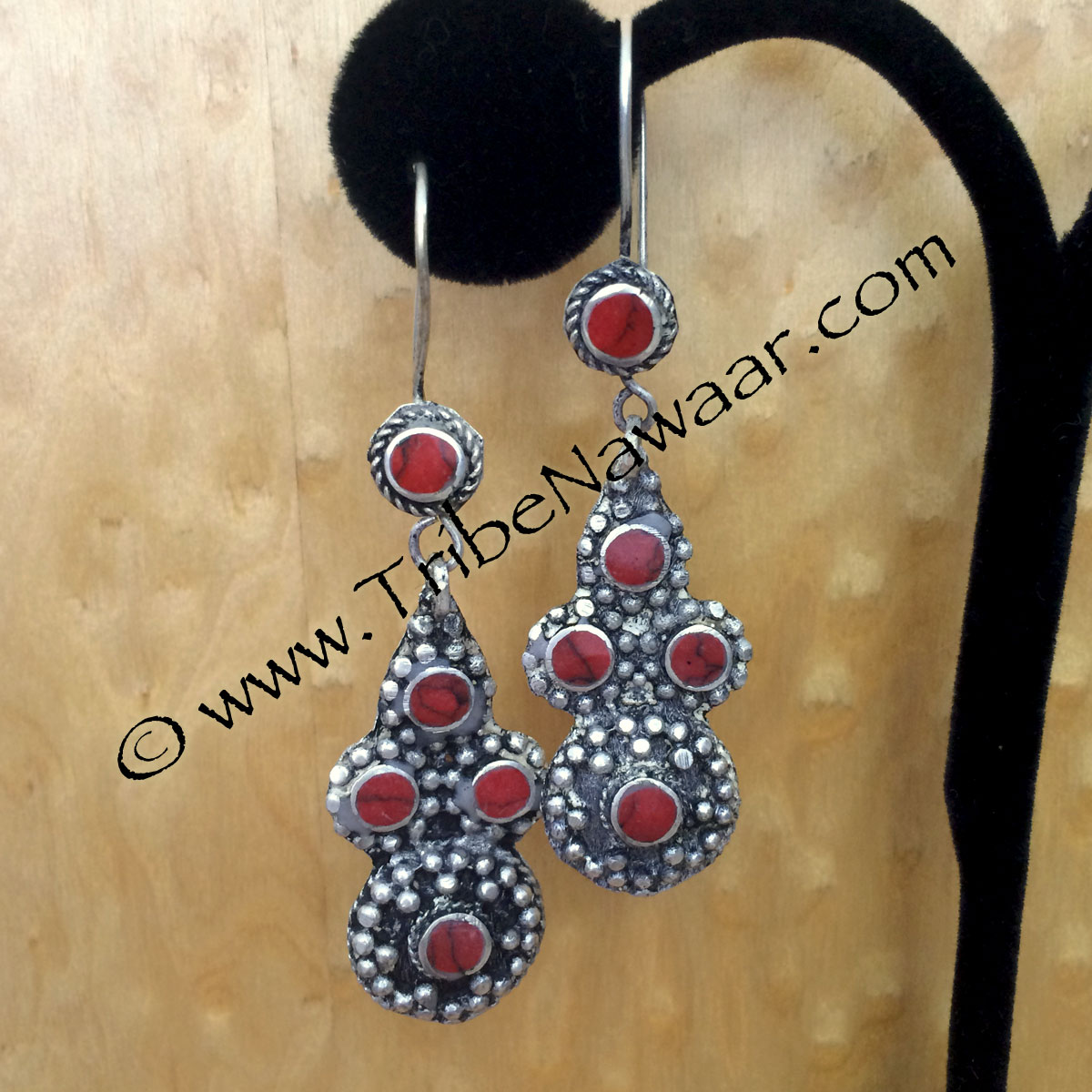 Tribe Nawaar's tribal dot earrings