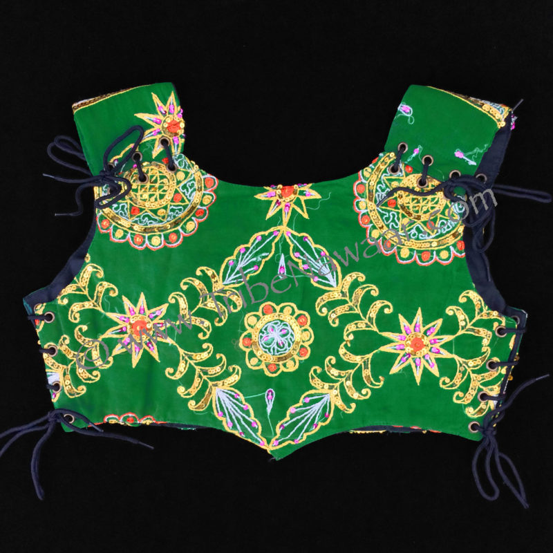 Tribe Nawaar's green bodice, back