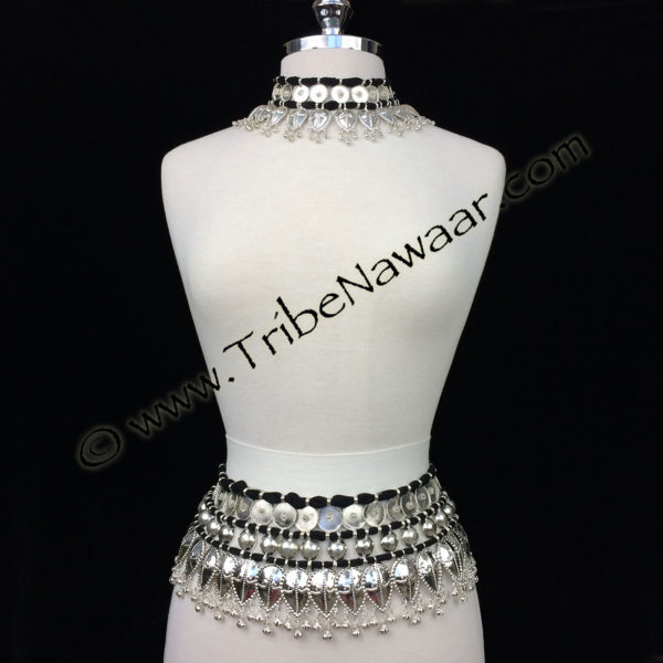 Tribe Nawaar's classic Odissi costume necklace & belt set (necklace & belt sold separately or as a set)
