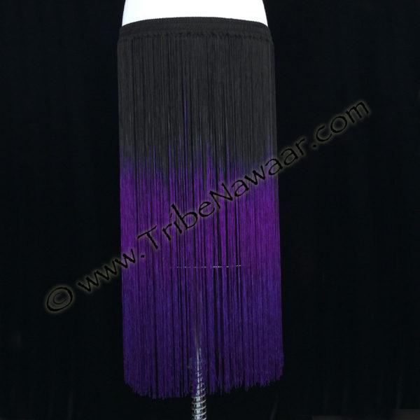 Tribe Nawaar's violet purple economy tribal fringed belt