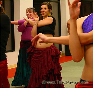Tribe Nawaar's Level 1 ATS® Bellydance Classes, Boulder, CO