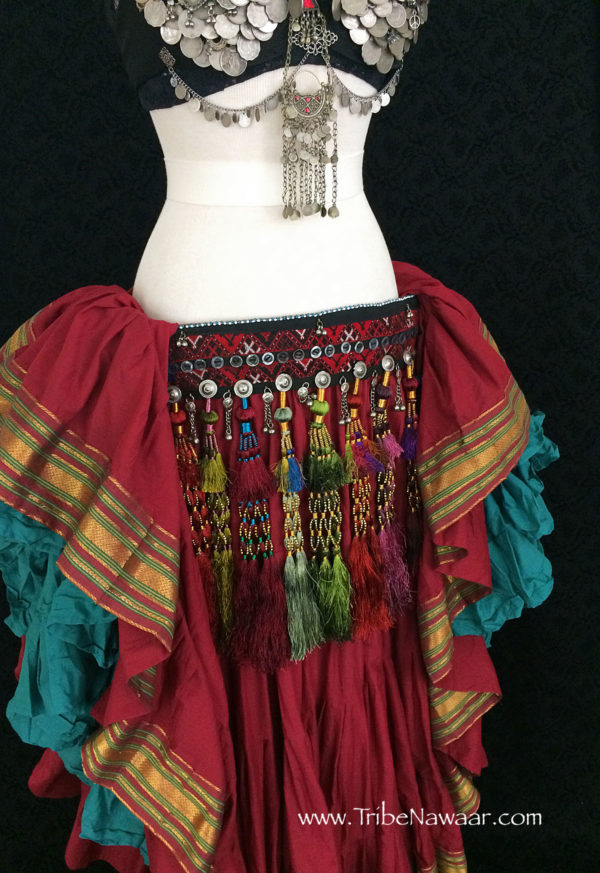 Royal Silk Tribal Tassel Belt 6