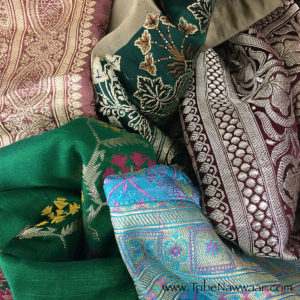 Sample of vintage silk fabrics used in Tribe Nawaar's Salawar Pants