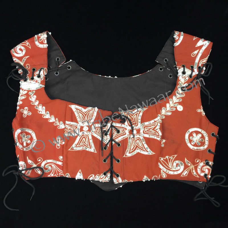 XL Rust Orange Bodice