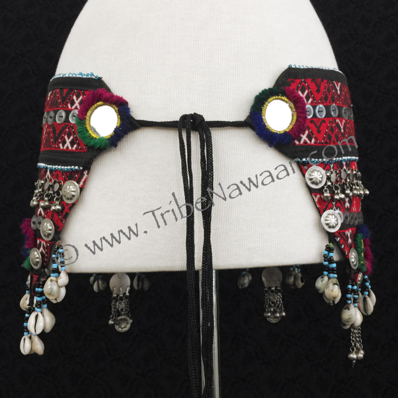 Tribe Nawaar's Traditional Balachi Tribal Belt With Cowrie Shells, tie section 2