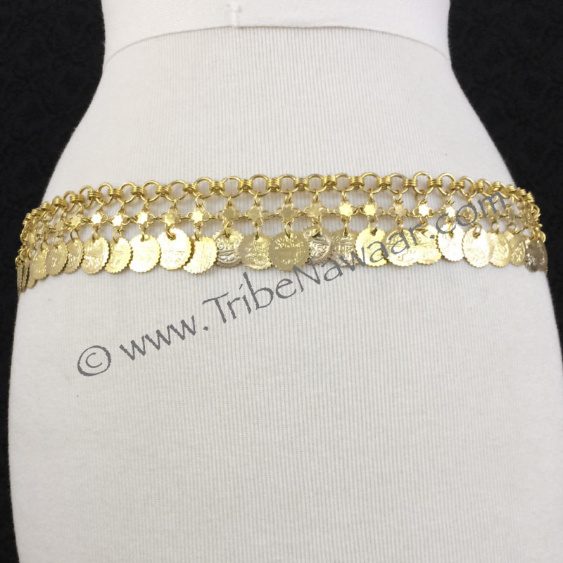 Gold Coin Belly Dance Costume Belt