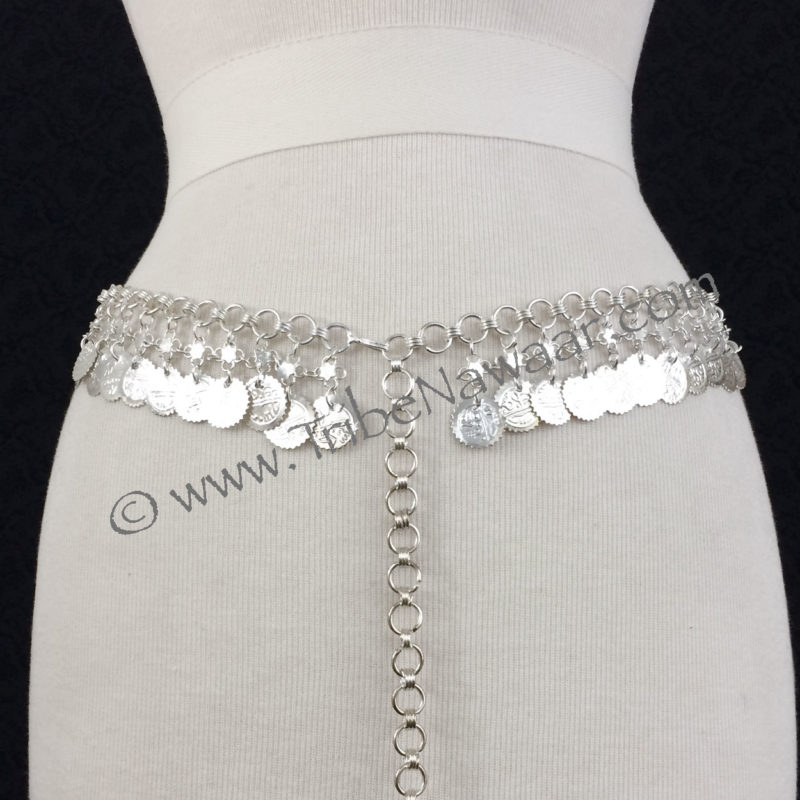 Tribe Nawaar's Silver Coin Belly Dance Costume Belt