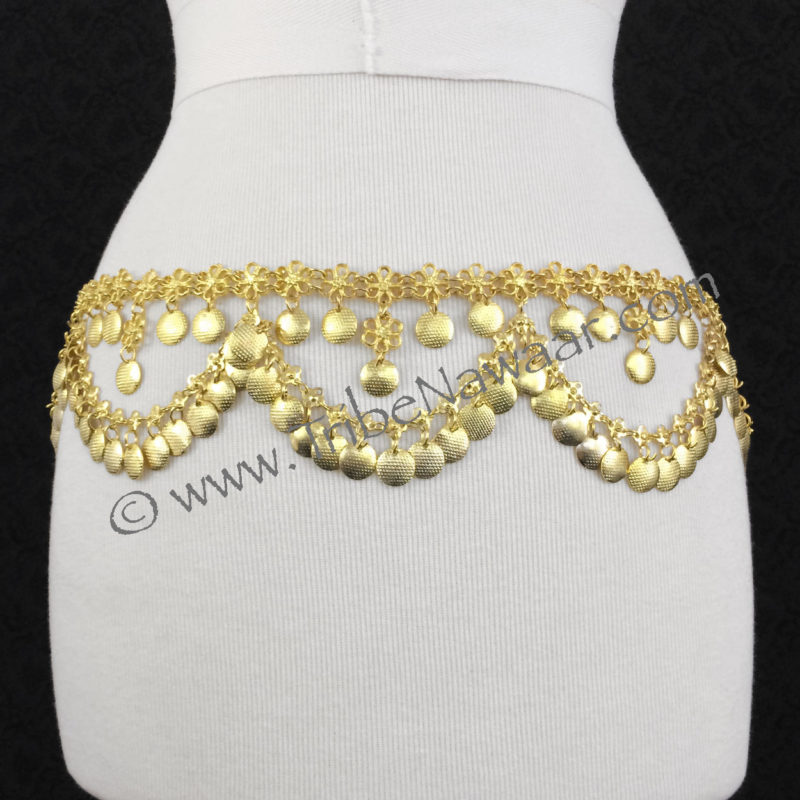 Aphrodite In Gold Costume Jewelry Bellydance Belt