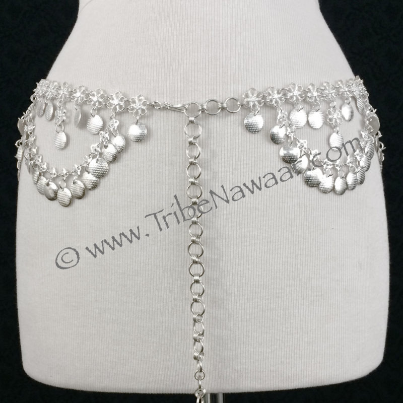 Aphrodite In Silver Costume Jewelry Bellydance Belt