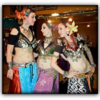 How to make a tribal bellydance panel skirt as modeled by Vespertina Dance Project