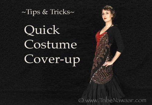 How to make a quick bellydance costume cover up by your friendly dancers at Tribe Nawaar